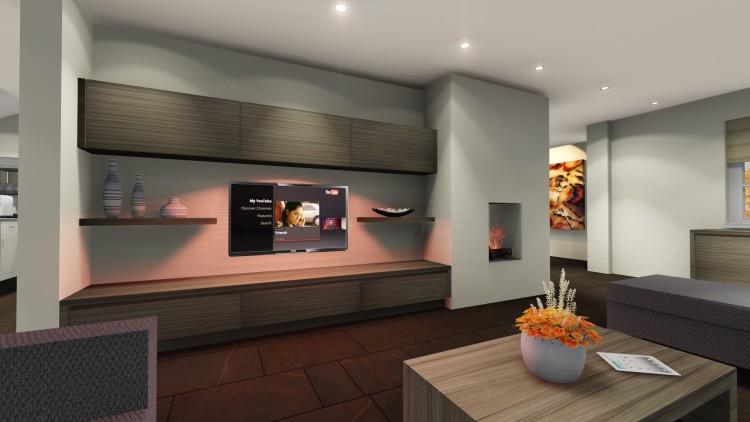 004 Tv meubel met ledlijn